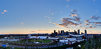 As seen from Tom Campbell's Hill overlooking Stampede Park and the Calgary Saddledome<br /> <br /> &copy;2010, Sean Phillips<br /> http://www.RiverwoodPhotography.com