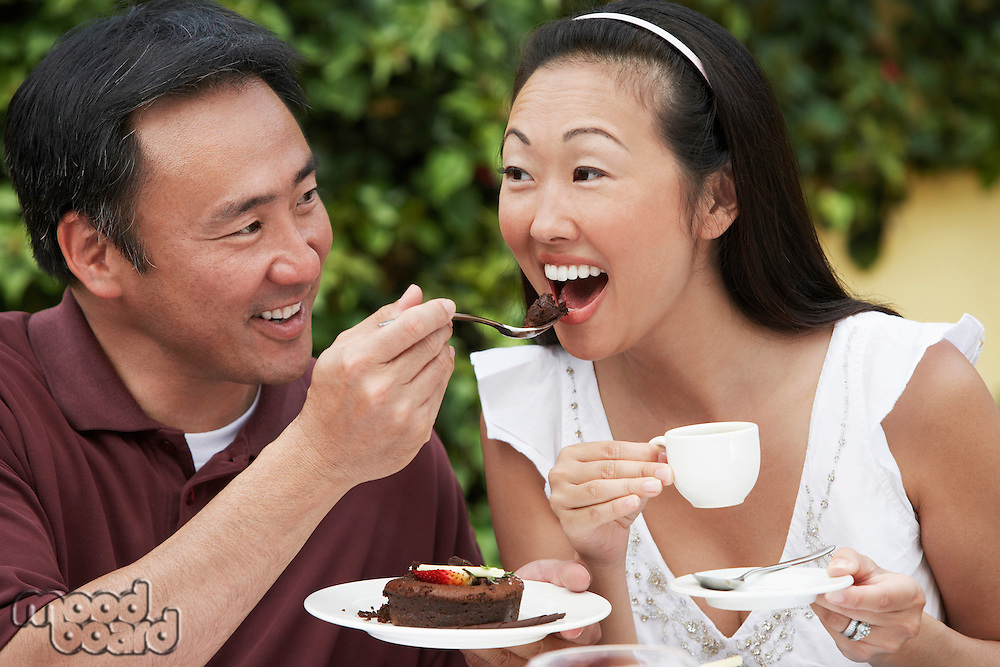 Couple Eating Cake