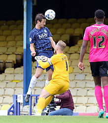 Southend United's David Mooney misses a chance to score - Mandatory byline: Joe Dent/JMP - 07966386802 - 05/09/2015 - FOOTBALL - Roots Hall -Southend,England - Southend United v Peterborough United - Sky Bet League One