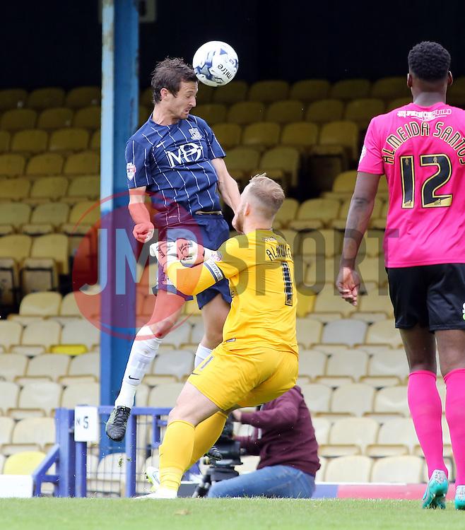Southend United's David Mooney misses a chance to score - Mandatory byline: Joe Dent/JMP - 07966386802 - 05/09/2015 - FOOTBALL - Roots Hall -Southend,England - Southend United v Peterborough United - Sky Bet League One