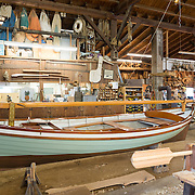 A boat-building workshop at the Chesapeake Bay Maritime Museum in St. Michaels on Maryland's Eastern Shore.