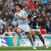 Martin Rodriguez, Argentina, in action during the Argentina V France test match at Estadio Jose Amalfitani, Buenos Aires,  Argentina. 26th June 2010. Photo Tim Clayton..