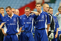 Wayne Rooney (Everton) shows his dejection as he lines up for his Runners up medal. FA Youth Cup Final 2002. Aston Villa v Everton 2nd leg. 18/5/2002. Credit : Colorsport / Andrew Cowie