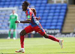 """Crystal Palaces Wilfried Zaha during the pre-season friendly match at the Madejski Stadium, Reading. PRESS ASSOCIATION Photo. Picture date: Saturday July 28, 2018. See PA story SOCCER Reading. Photo credit should read: Mark Kerton/PA Wire. RESTRICTIONS: EDITORIAL USE ONLY No use with unauthorised audio, video, data, fixture lists, club/league logos or """"live"""" services. Online in-match use limited to 75 images, no video emulation. No use in betting, games or single club/league/player publications."""