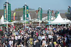 LIVERPOOL, ENGLAND, Saturday, April 9, 2011: Racegoers during Day Three of the Aintree Grand National Festival at Aintree Racecourse. (Photo by David Rawcliffe/Propaganda)