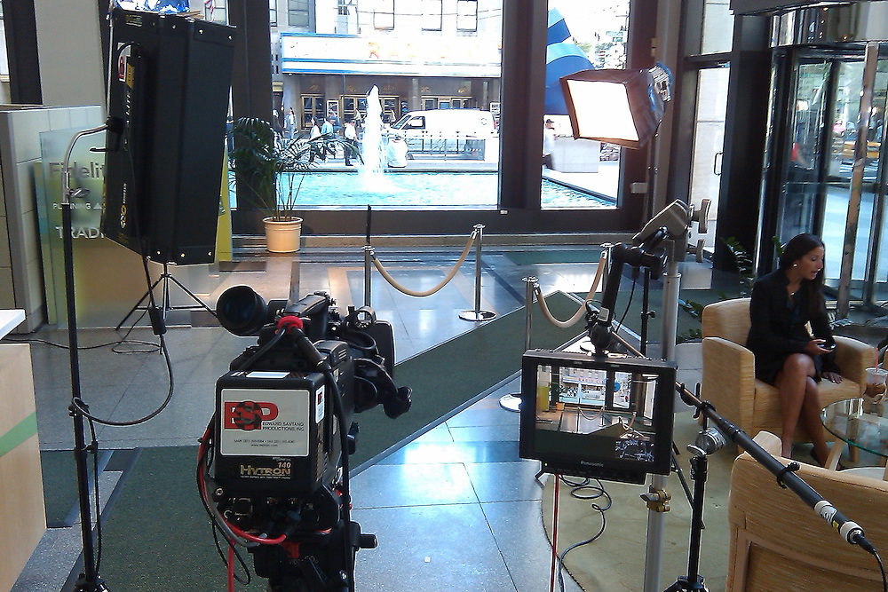 Behind the scenes photographs of the Fidelity Investments shoot produced by ESP Productions.