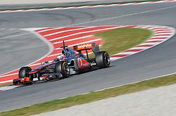 18.02.2011, Circuit de Catalunya, Barcelona, ESP, Formel 1 Test 3 2011,  im Bild Jenson Button (GBR),  McLaren F1 Team  EXPA Pictures © 2011, PhotoCredit: EXPA/ nph/  Dieter Mathis       ****** out of GER / SWE / CRO  / BEL ******