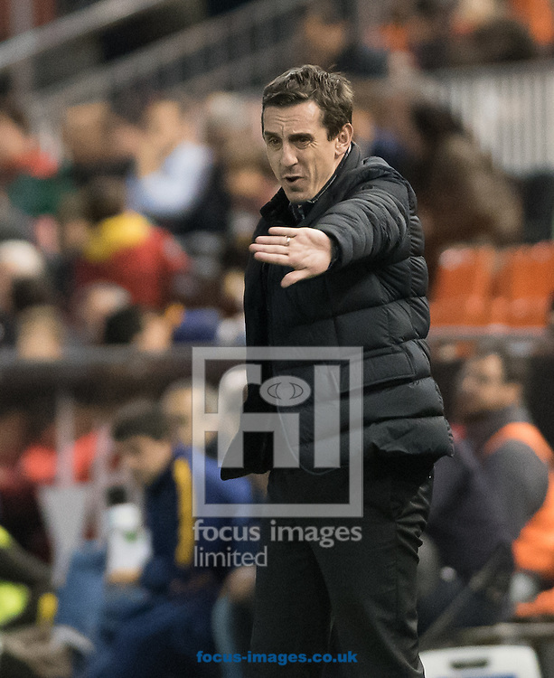 Gary Neville head coach of Valencia during the Copa Del Rey match at Mestalla, Valencia<br /> Picture by Maria Jose Segovia/Focus Images Ltd +34 660052291<br /> 10/02/2016