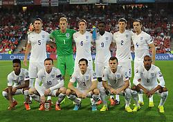 England team - Photo mandatory by-line: Joe Meredith/JMP - Mobile: 07966 386802 - 08/09/14 - SPORT - FOOTBALL - Switzerland - Basel - St Jacob Park - Switzerland v England - Uefa Euro 2016 Group E Qualifier