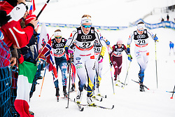 January 6, 2018 - Val Di Fiemme, ITALY - 180106 Jennie …berg of Sweden competes in women's 10km mass start classic technique during Tour de Ski on January 6, 2018 in Val di Fiemme..Photo: Jon Olav Nesvold / BILDBYRN / kod JE / 160122 (Credit Image: © Jon Olav Nesvold/Bildbyran via ZUMA Wire)