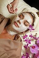 Alma Pasic, 23, enjoys a facial at the Ritz-Carlton Spa at Key Biscayne,