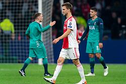 08-05-2019 NED: Semi Final Champions League AFC Ajax - Tottenham Hotspur, Amsterdam<br /> After a dramatic ending, Ajax has not been able to reach the final of the Champions League. In the final second Tottenham Hotspur scored 3-2 / Joel Veltman #3 of Ajax