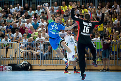Darko Cingesar of Slovenia during handball game between Man National Teams of Slovenia and Hungary in 2019 Man's World Championship Qualification, on June 9, 2018 in Arena Bonifika, Ljubljana, Slovenia. Photo by Urban Urbanc / Sportida