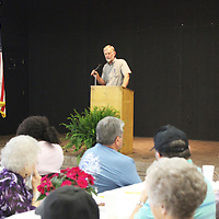 Monroe County Road Manager Sonny Clay addresses the crowd at the Keep Monroe County Beautiful Luncheon at the East Amory Community Center.