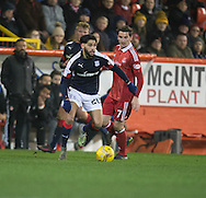 Dundee&rsquo;s Kostadin Gadzhalov and Aberdeen&rsquo;s Kenny&nbsp;McLean- Aberdeen v Dundee in the Ladbrokes Scottish Premiership at Pittodrie, Aberdeen - Photo: David Young, <br /> <br />  - &copy; David Young - www.davidyoungphoto.co.uk - email: davidyoungphoto@gmail.com