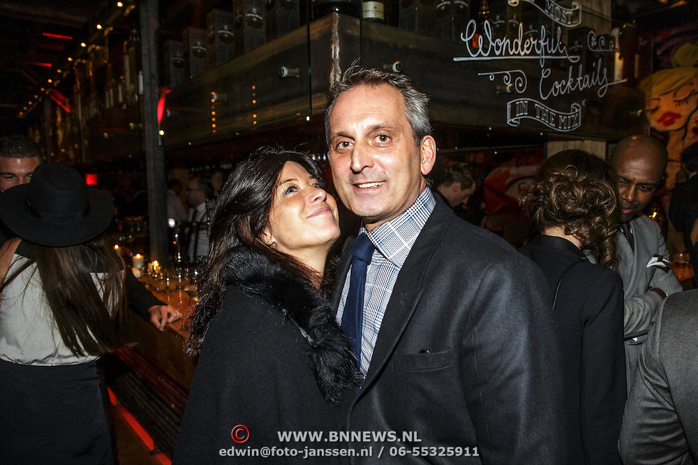 NLD/Amsterdam/20141108 - Inloop JFK Greatest Man of the Year 2014 award, Amanda Beekman en partner Harrie Kolen