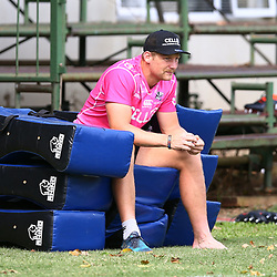 DURBAN, SOUTH AFRICA - APRIL 10: Robert du Preez of the Cell C Sharks during the Cell C Sharks training session at Jonsson Kings Park on April 10, 2018 in Durban, South Africa. (Photo by Steve Haag/Gallo Images)