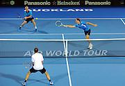 Daniel King-Turner (NZL)/Michael Venus (NZL) during the Heineken Open New Zealand at the ASB Tennis Centre, Auckland, New Zealand. Monday 7 January 2013. Photo: Chris Symes/www.photosport.co.nz