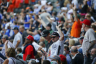 June 15, 2017 - Chicago, IL, USA - Chicago White Sox fans celebrate in the fourth inning against the Baltimore Orioles at Guaranteed Rate Field Thursday, June 15, 2017 in Chicago. The White Sox won, 5-2. (Credit Image: © Jose M. Osorio/TNS via ZUMA Wire)