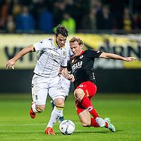 ROTTERDAM - Excelsior - Vitesse , Voetbal , Eredivisie , Seizoen 2015/2016 , Stadion Woudestein , 31-10-2015 , Vitesse speler Valeri Qazaishvili (l) in duel met Excelsior speler Rick Kruys (r)