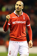 Nottingham Forest midfielder Adlene Guedioura during the EFL Sky Bet Championship match between Nottingham Forest and Ipswich Town at the City Ground, Nottingham, England on 1 December 2018.