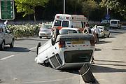 Car Accident Overturned car