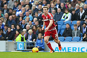 Middlesbrough FC midfielder Grant Leadbitter during the Sky Bet Championship match between Brighton and Hove Albion and Middlesbrough at the American Express Community Stadium, Brighton and Hove, England on 19 December 2015. Photo by Phil Duncan.
