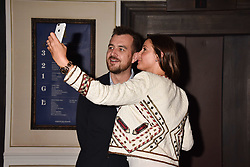 Lisa Snowdon and George Smart at the 2017 Fortnum & Mason Food & Drink Awards held at Fortnum & Mason, Piccadilly London England. 11 May 2017.<br /> Photo by Dominic O'Neill/SilverHub 0203 174 1069 sales@silverhubmedia.com