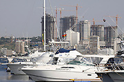 The Marina with Luanda sky line in the background. Angola. Africa. .Pictures © Z & D Lightfoot..www.lightfootphoto.co.uk