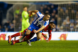 Junior Hoilett of Cardiff City receives a yellow card for pulling down Beram Kayal of Brighton & Hove Albion following a sliding tackle - Mandatory by-line: Jason Brown/JMP - 24/01/2017 - FOOTBALL - Amex Stadium - Brighton, England - Brighton & Hove Albion v Cardiff City - Sky Bet Championship