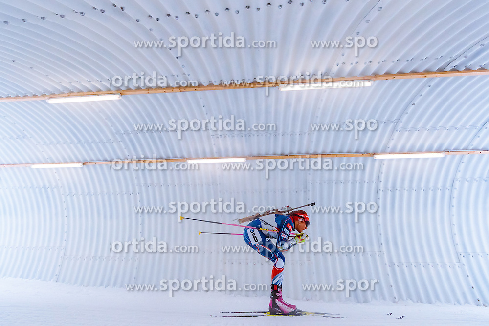 17.02.2017, Biathlonarena, Hochfilzen, AUT, IBU Weltmeisterschaften Biathlon, Hochfilzen 2017, Staffel Damen, im Bild Gabriela Koukalova (CZE) // Gabriela Koukalova of Czech Republic // during Womens Relay of the IBU Biathlon World Championships at the Biathlonarena in Hochfilzen, Austria on 2017/02/17. EXPA Pictures © 2017, PhotoCredit: EXPA/ JFK