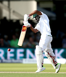 Temba Bavuma of South Africa plays a defensive shot - Mandatory by-line: Robbie Stephenson/JMP - 07/07/2017 - CRICKET - Lords - London, United Kingdom - England v South Africa - Investec Test Series