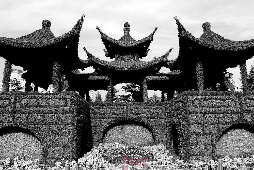 Exposition vegatale a Century Park a Pudong, Shanghai, Chine  decembre 2006