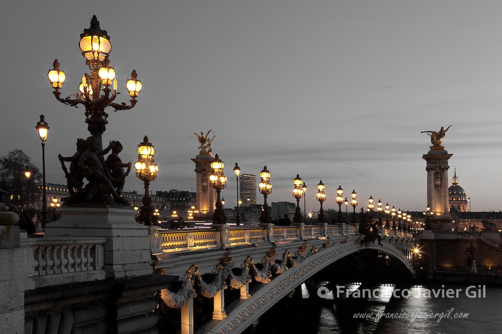 Alexander III bridge, Paris, France