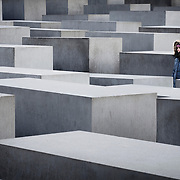 A girl in the Memorial to the Murdered Jews of Europe