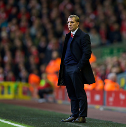 09.11.2013, Anfield, LIVERPOOL, ENG, Premier League, FC Liverpool vs FC Fulham, 11. Runde, im Bild Liverpool's manager Brendan Rodgers // during the English Premier League 11th round match between Liverpool FC and Fulham FC at Anfield in LIVERPOOL, Great Britain on 2013/11/09. EXPA Pictures © 2013, PhotoCredit: EXPA/ Propagandaphoto/ David Rawcliffe<br /> <br /> *****ATTENTION - OUT of ENG, GBR*****