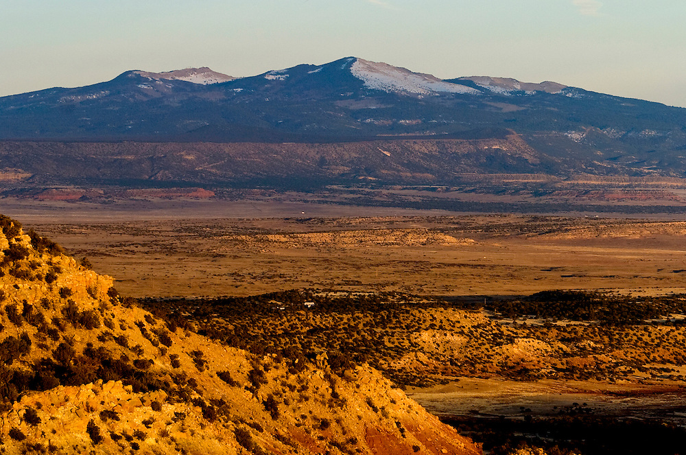 Mount Taylor in western New Mexico at last light, March 2009