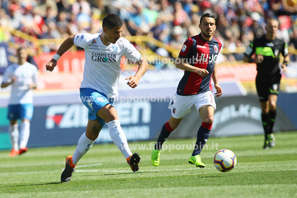 "Foto LaPresse/Filippo Rubin<br /> 27/04/2019 Bologna (Italia)<br /> Sport Calcio<br /> Bologna - Empoli - Campionato di calcio Serie A 2018/2019 - Stadio ""Renato Dall'Ara""<br /> Nella foto: NIKOLAU DIMITRIOS (EMPOLI)<br /> <br /> Photo LaPresse/Filippo Rubin<br /> April 27, 2019 Bologna (Italy)<br /> Sport Soccer<br /> Bologna vs Empoli - Italian Football Championship League A 2017/2018 - ""Renato Dall'Ara"" Stadium <br /> In the pic: NIKOLAU DIMITRIOS (EMPOLI)"
