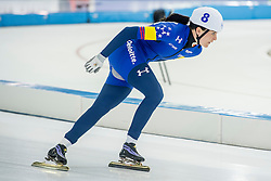 10-12-2016 NED: ISU World Cup Speed Skating, Heerenveen<br /> Massasprint vrouwen Heather  Bergsma USA #8