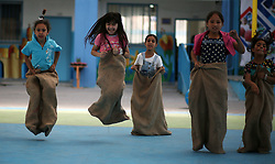 July 24, 2017 - Gaza, gaza strip, Palestine - Palestinian children enjoy as part of the activities proposed during a Summer Fun Weeks 2017 organised by the United Nations, in Jabalia refugee camp in the northern Gaza strip, on July 24, 2017. (Credit Image: © Majdi Fathi/NurPhoto via ZUMA Press)