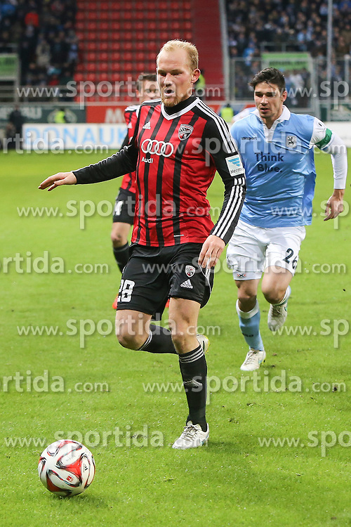 02.03.2015, Audi Sportpark, Ingolstadt, GER, 2. FBL, FC Ingolstadt 04 vs TSV 1860 M&uuml;nchen, 23. Runde, im Bild Christopher Schindler (Nr.26, 1860 Muenchen) gegen Tobias Levels (Nr.28, FC Ingolstadt 04) // during the 2nd German Bundesliga 23rd round match between FC Ingolstadt 04 and TSV 1860 M&uuml;nchen at the Audi Sportpark in Ingolstadt, Germany on 2015/03/02. EXPA Pictures &copy; 2015, PhotoCredit: EXPA/ Eibner-Pressefoto/ Strisch<br /> <br /> *****ATTENTION - OUT of GER*****