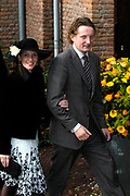 Hare Koninklijke Hoogheid Prinses Alexia, de jongste dochter van Zijne Koninklijke Hoogheid de Prins van Oranje en Hare Koninklijke Hoogheid Prinses M&aacute;xima, is zaterdag 19 november 2005 gedoopt in de Dorpskerk in Wassenaar. <br /> <br /> Baptism of Princess Alexia, the youngest daughter of Prince Willem-Alexander and Princess M&aacute;xima. Princess Alexia (born June 26, 2005) has been baptized in the church in Wassenaar. The ceremony was attended by The Dutch Royal Family and the parents of Princess M&aacute;xima.  <br /> <br /> Op de foto / On the photo:<br /> <br /> <br /> Zijne Hoogheid Prins Bernhard van Oranje-Nassau, van Vollenhoven, Hare Hoogheid Prinses Annette van Oranje-Nassau, van Vollenhoven   <br /> <br /> His highness prince Bernhard van Oranje-Nassau, of Vollenhoven, her highness princess Annette van Oranje-Nassau, of Vollenhoven