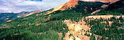 Panoramic view of the Red Mountains and the Irardo Mine, near Ouray & SIlverton, Colorado, USA; August 2010