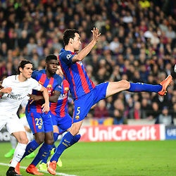 Sergio Busquets of Barcelona during the Uefa Champions League Round of 16 second leg match between FC Barcelona and Paris Saint Germain at Camp Nou on March 8, 2017 in Barcelona, Spain. (Photo by Dave Winter/Icon Sport)