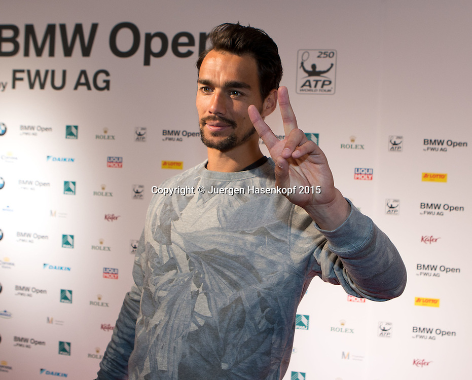 BMW Open Players Party,<br /> Fabio Fognini<br /> <br /> <br /> Tennis - BMW Open - ATP -   - Muenchen - Bayern - Germany  - 27 April 2015. <br /> &copy; Juergen Hasenkopf
