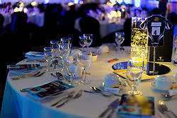 Table decorations prior to the start of the Season Launch Dinner - Ryan Hiscott/JMP - 06/08/2018 - RUGBY - Sandy Park - Exeter, England - Exeter Chiefs Season Launch Dinner