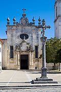 Sao Domingos 15th Century Baroque style facade Se Cathedral and Three Graces states, Monument of Public Interest in Aveiro, Portugal