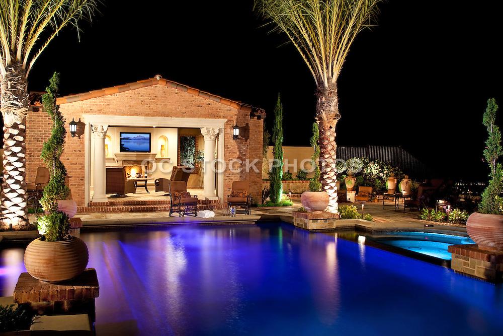 Custom Pool At dusk