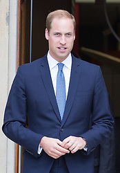 Image ©Licensed to i-Images Picture Agency. 17/07/2014. London, United Kingdom. Prince William, Duke of Cambridge, visits the IWM. Prince William, The Duke of Cambridge leaves the <br /> Imperial War Museums in London after opening its new First World War Galleries in a new summer exhibition. Imperial War Museums. Picture by Daniel Leal-Olivas / i-Images