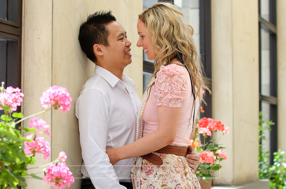 Image of Lynsey and Simon from their pre wedding portrait session.